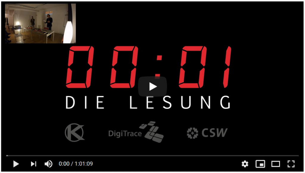 00:01 Die Lesung - Gillies, Wundram - Youtube-Link